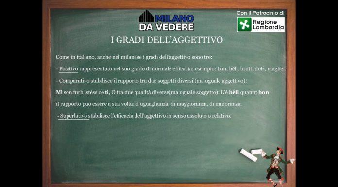 Corso dialetto milanese lezione 46