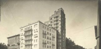 Torre Rasini in una foto d'epoca