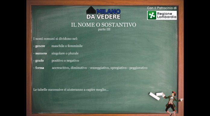 Corso dialetto milanese lezione 52