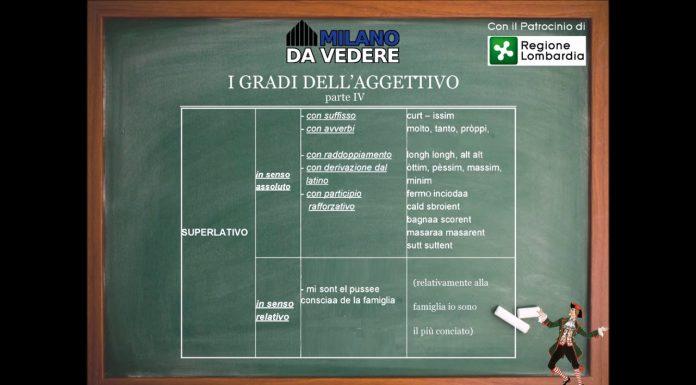 Corso dialetto milanese lezione 49
