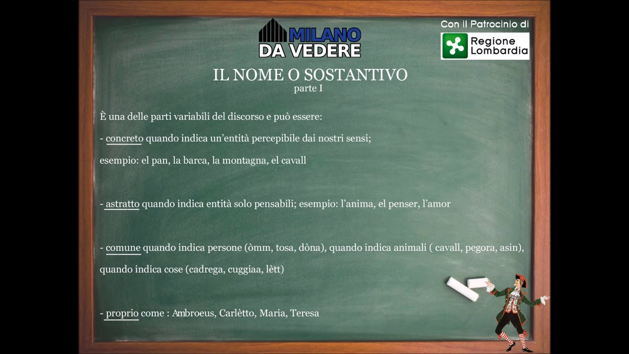Corso dialetto milanese lezione 50