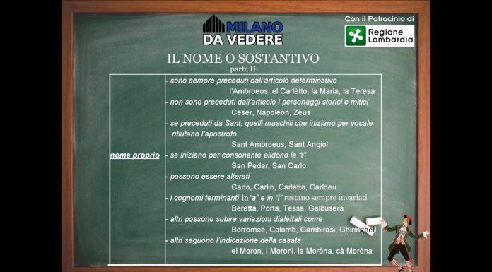 Corso online dialetto milanese - lezione 51