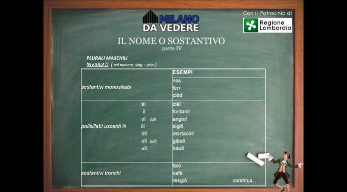 Corso online dialetto milanese lezione 53