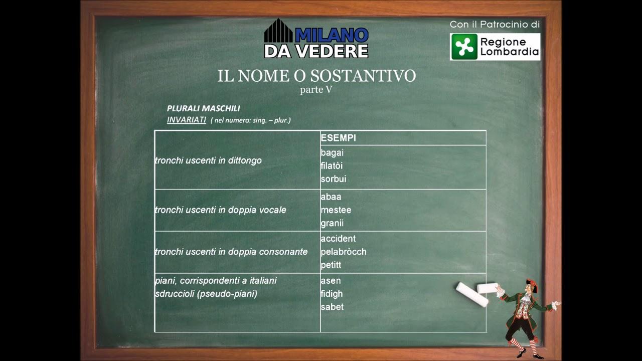 Corso online dialetto milanese - lezione 54