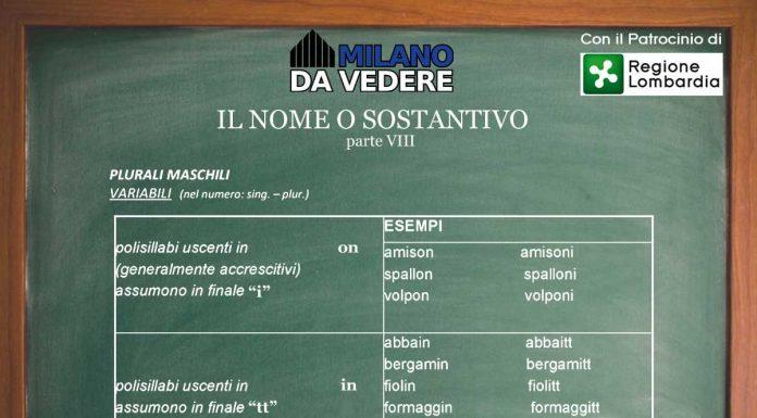 Corso online dialetto milanese lezione 57