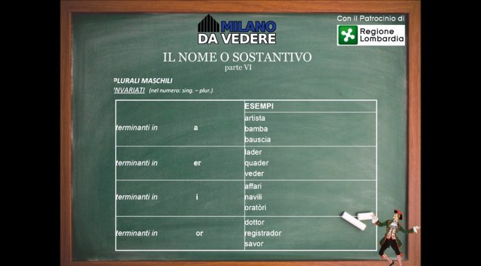 Corso online dialetto milanese lezione 55