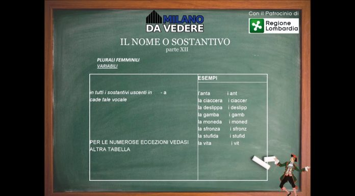 Corso online dialetto milanese lezione 61