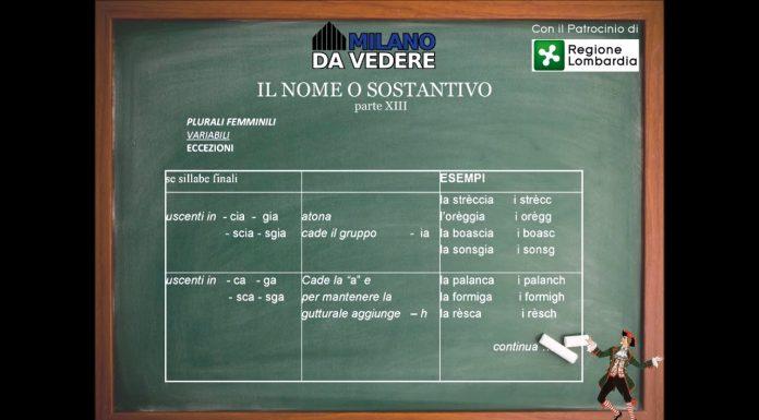Corso online dialetto milanese lezione 62