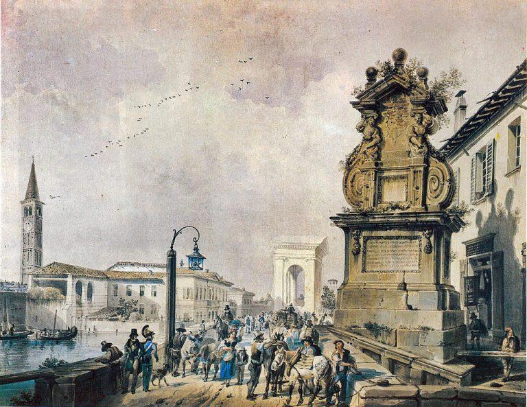 ponte del trofeo - Giovanni Migliara