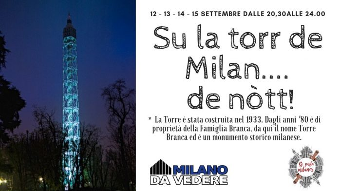 Su la torr de Milan... de nòtt