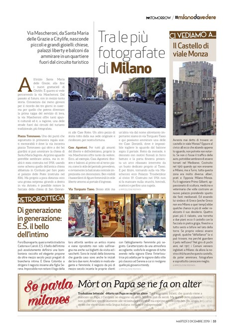 Mi-Tomorrow speciale Milanodavedere