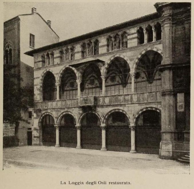 Loggia degli Osii nel 1904