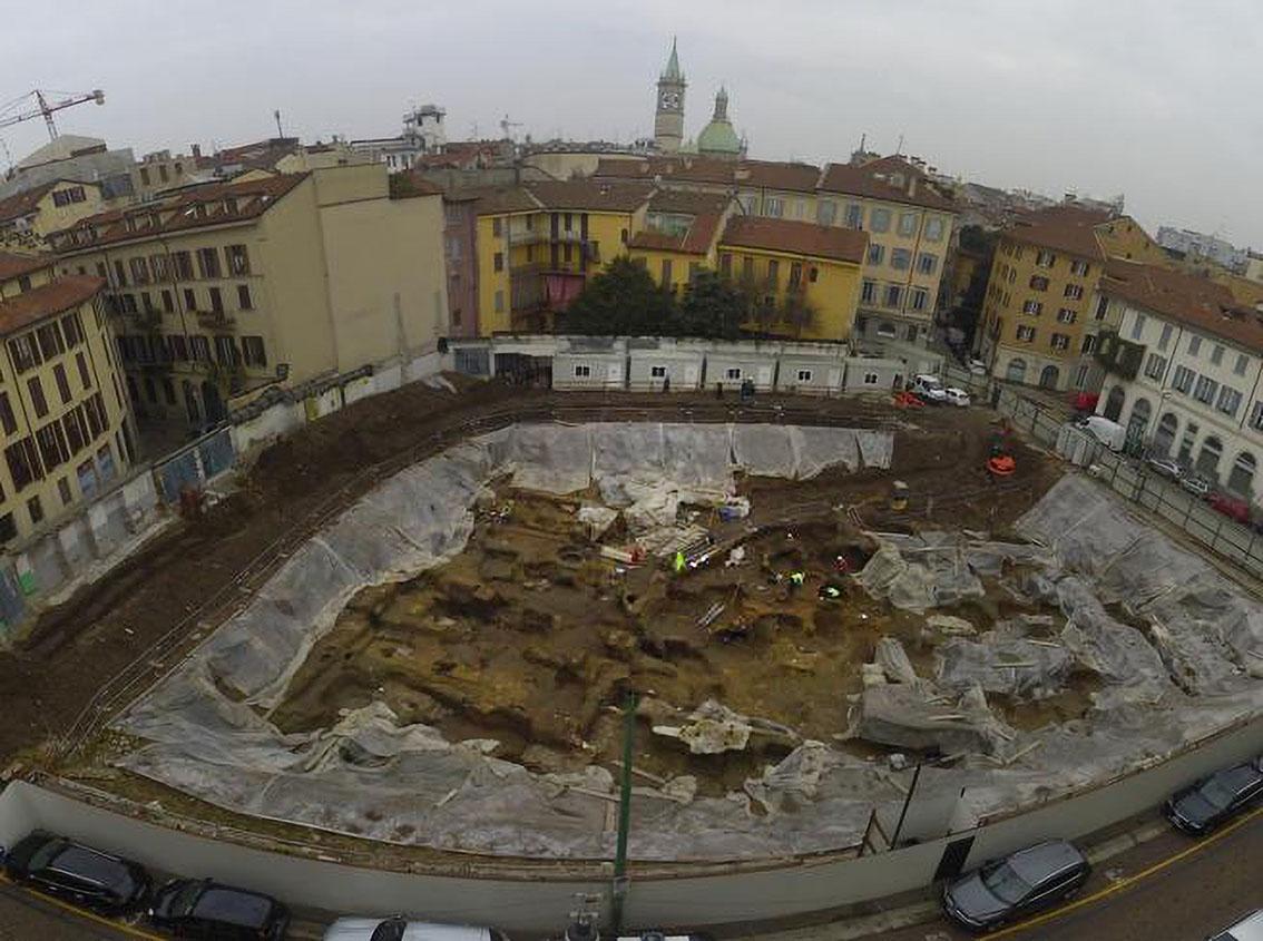 Sanremo, un parcheggio a Milano ricco di storia - foto corriere della sera